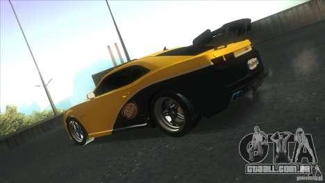 Chevrolet Camaro SS Dr Pepper Edition para GTA San Andreas vista superior