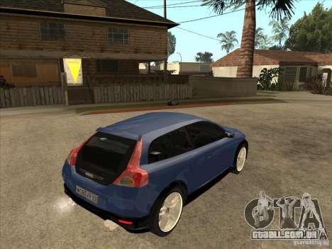 VOLVO C30 Sport 2009 para GTA San Andreas vista direita
