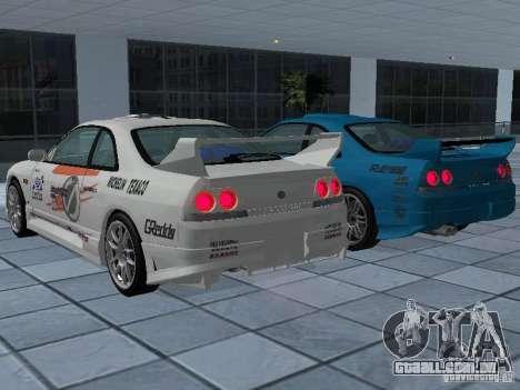 Nissan Skyline R 33 GT-R para GTA San Andreas vista inferior
