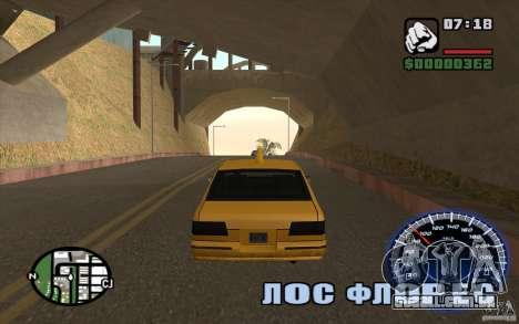 Velocímetro para GTA San Andreas terceira tela