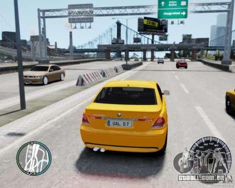 BMW Alpina B7 para GTA 4 traseira esquerda vista