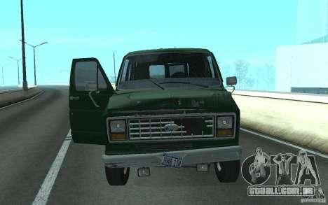 Ford E-150 Short Version v2 para GTA San Andreas traseira esquerda vista