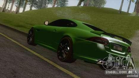 Jaguar XKR-S 2011 V1.0 para GTA San Andreas esquerda vista
