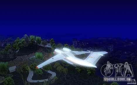 Antonov 74 para GTA San Andreas traseira esquerda vista