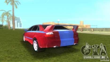Audi A4 STREET RACING EDITION para GTA Vice City vista direita