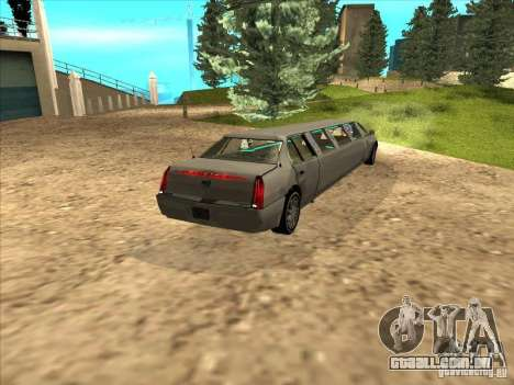 Cadillac DTS 2008 Limousine para GTA San Andreas esquerda vista