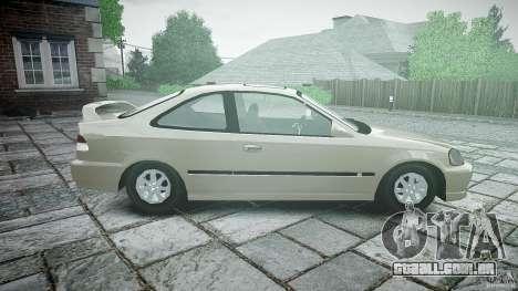 Honda Civic Coupe para GTA 4 esquerda vista