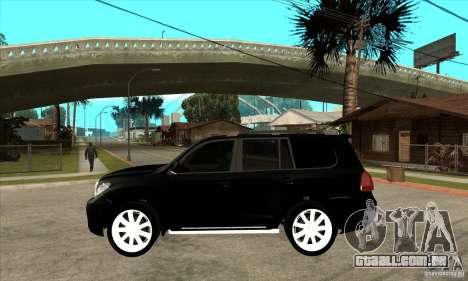Lexus LX 570 2010 para GTA San Andreas esquerda vista
