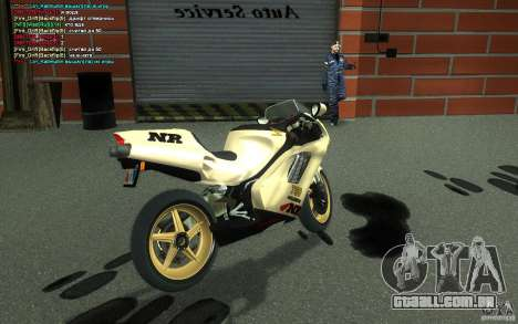 Honda NR 750 Special Edition para GTA San Andreas traseira esquerda vista