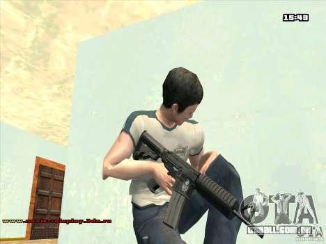 M4 HD para GTA San Andreas segunda tela