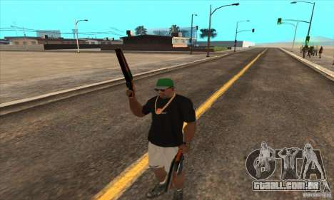 WEAPON BY SWORD para GTA San Andreas quinto tela