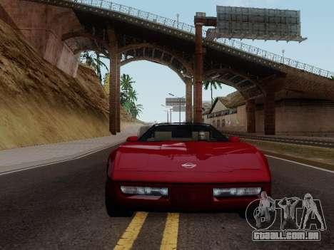 Chevrolet Corvette C4 1984 para GTA San Andreas vista traseira
