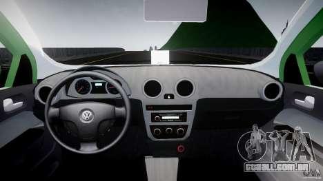 Volkswagen Gol Rallye 2012 v2.0 para GTA 4 vista direita