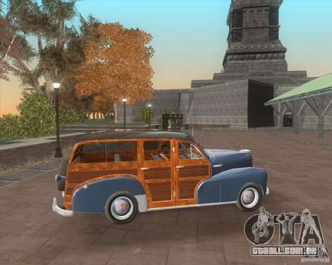 Chevrolet Fleetmaster 1948 para GTA San Andreas vista interior