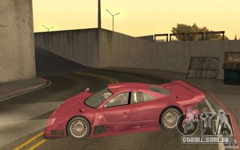 Mercedes-Benz CLK GTR road version (v2.0.0) para GTA San Andreas esquerda vista
