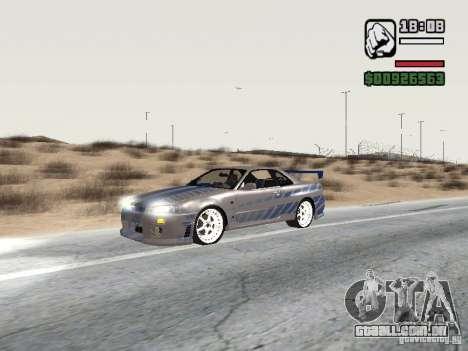 Nissan Skyline GTR34 FNF2 para GTA San Andreas