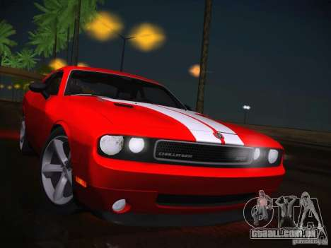 Dodge Challenger SRT8 v1.0 para GTA San Andreas vista interior