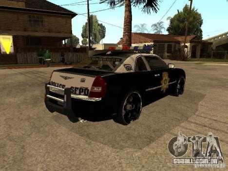 Chrysler 300C Police para GTA San Andreas traseira esquerda vista