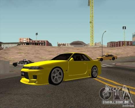Nissan Skyline R32 Bee R para GTA San Andreas esquerda vista