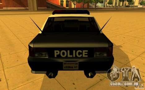 Sultan SFPD para GTA San Andreas esquerda vista