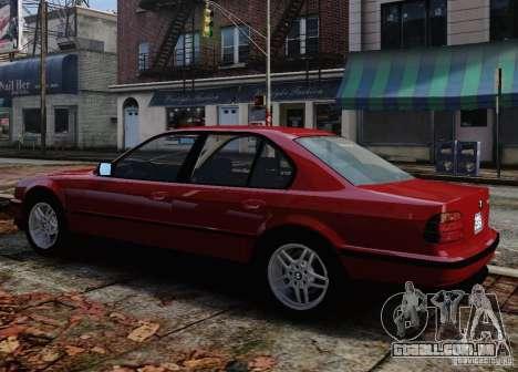BMW 750i E38 1998 M-Packet para GTA 4 vista inferior
