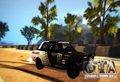 Datsun 510 Monster Energy para GTA San Andreas esquerda vista