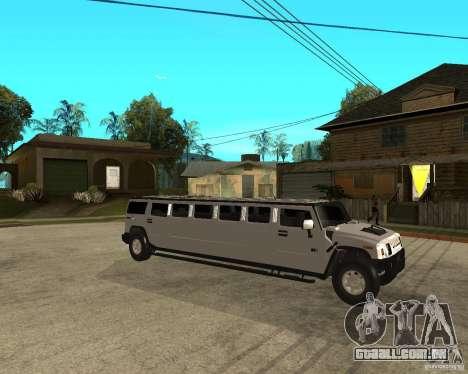 AMG H2 HUMMER 4x4 Limusine para GTA San Andreas vista direita