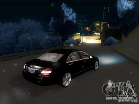 Mercedes-Benz S600 para GTA San Andreas vista inferior