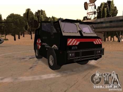 AM 7.0 Umbrella Corporation para GTA San Andreas vista traseira