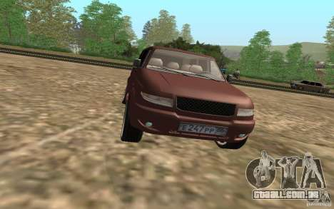 UAZ Patriot para vista lateral GTA San Andreas