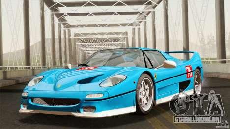 Ferrari F50 v1.0.0 Road Version para GTA San Andreas vista interior