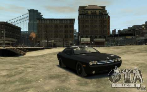 Dodge Challenger Concept Slipknot Edition para GTA 4 vista de volta