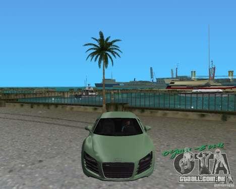 Audi R8 4.2 Fsi para GTA Vice City vista direita