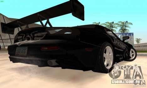 Mazda RX7 Tuned para GTA San Andreas vista traseira