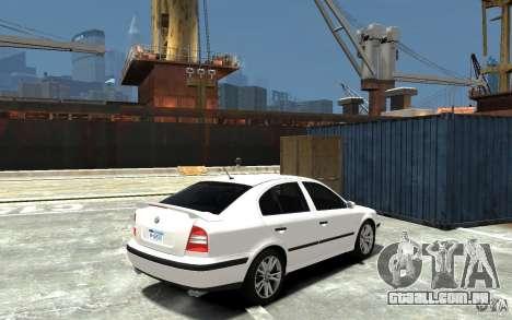 Skoda Octavia v.1.0 para GTA 4 vista superior