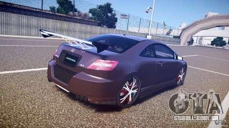 Honda Civic Si Tuning para GTA 4 vista lateral