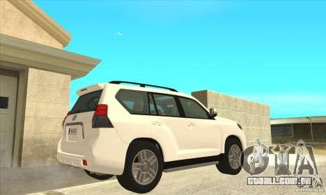 Toyota Land Cruiser Prado 150 para GTA San Andreas vista direita