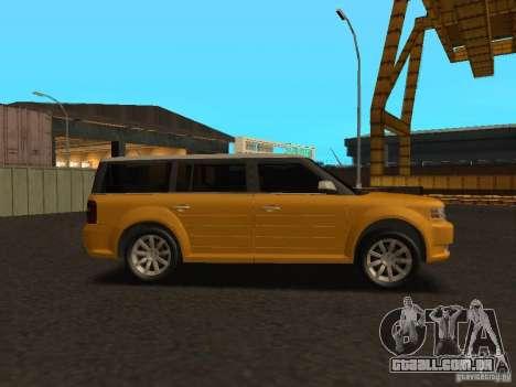 Ford Flex para GTA San Andreas traseira esquerda vista