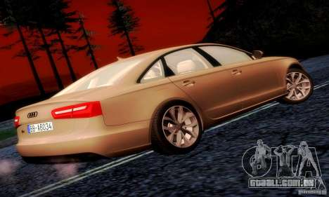 Audi A6 2012 para GTA San Andreas vista direita
