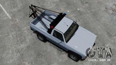 Rancher Tow Truck ELS para GTA 4 vista direita