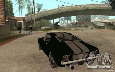 Ford Mustang TOKYO DRIFT para GTA San Andreas traseira esquerda vista