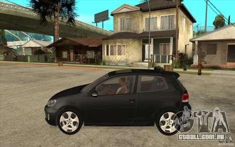 VW Golf 6 GTI para GTA San Andreas esquerda vista