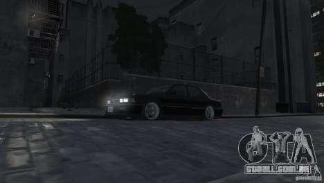 Mitsubishi Galant Stance para GTA 4 vista interior