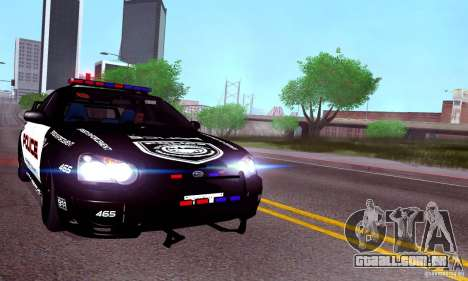 Subaru Impreza WRX STI Police Speed Enforcement para GTA San Andreas traseira esquerda vista