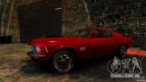Ford Mustang BOSS 429 para GTA 4 vista de volta