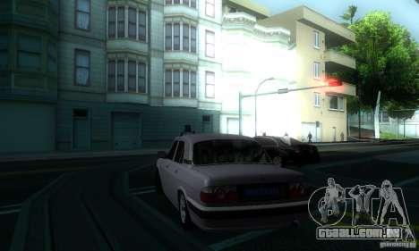 GAZ Volga 31105 advogado para GTA San Andreas vista traseira