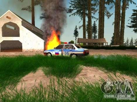 Polícia de 2109 VAZ para vista lateral GTA San Andreas