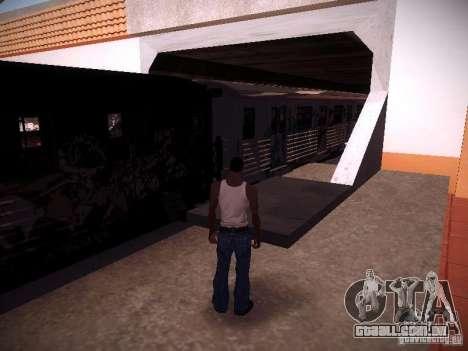 O trem de GTA IV para GTA San Andreas traseira esquerda vista