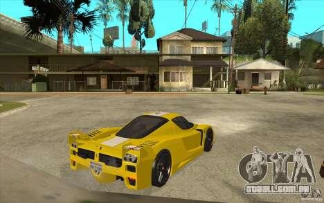 Ferrari FXX 2005 para GTA San Andreas vista traseira