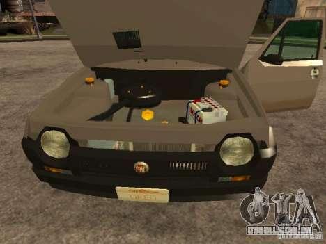 Fiat Ritmo para GTA San Andreas vista interior